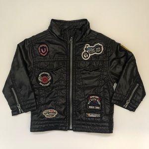 Vintage Style Soft Motorcycle Toddler Jacket